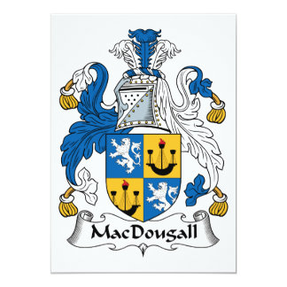 MacDougall Family Crest 5x7 Paper Invitation Card