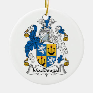 MacDougall Family Crest Ceramic Ornament