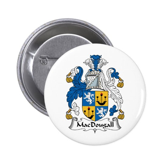 MacDougall Family Crest Pinback Button