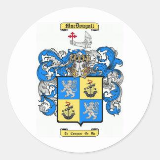 MacDougall Pegatina Redonda