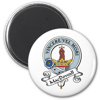 MacDowall Clan Badge 2 Inch Round Magnet