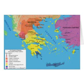 Macedon Map at the Death of Philip II 336 B.C. Card