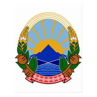 Macedonia Coat of Arms Postcards
