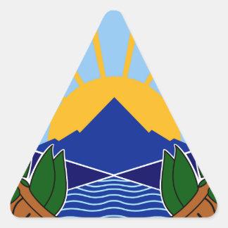 macedonia emblem triangle sticker