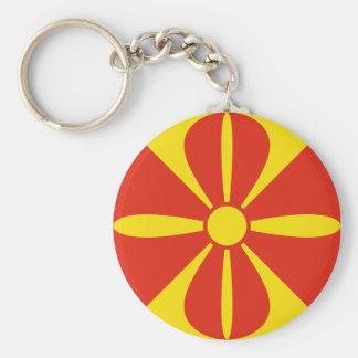 Macedonia Fisheye Flag Keychain