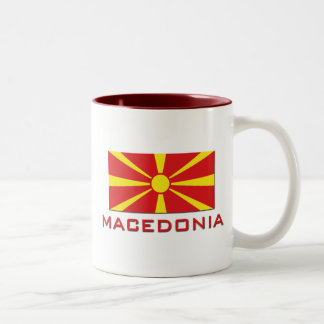 Macedonia Flag 1 Two-Tone Coffee Mug