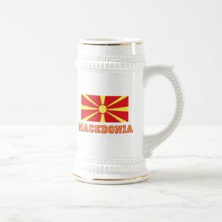 Macedonia Flag 2 Beer Stein