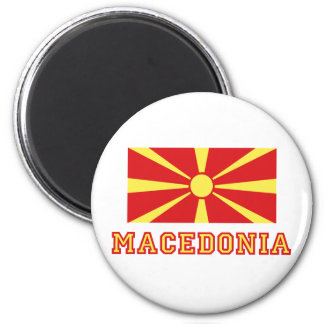 Macedonia Flag 2 2 Inch Round Magnet