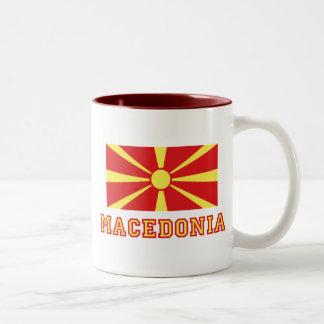Macedonia Flag 2 Two-Tone Coffee Mug
