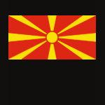 Macedonia Flag Map Spaghetti Top