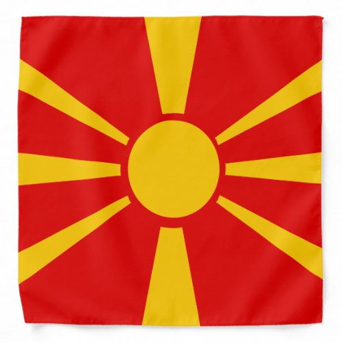 Macedonia Flag Bandana