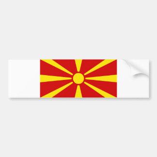 Macedonia Flag Bumper Sticker