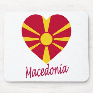 Macedonia Flag Heart Mouse Pad