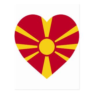 Macedonia Flag Heart Postcard