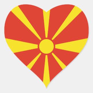 Macedonia Flag Heart Sticker