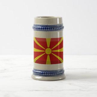 Macedonia Flag Jewel Beer Stein