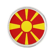 Macedonia Flag Lapel Pin