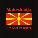 Macedonia Flag Map Text Ladies Baby Doll