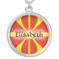 Macedonia Flag   Name Necklace