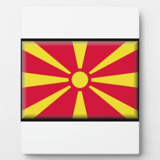 Macedonia Flag Plaques