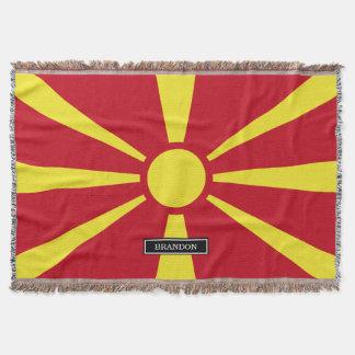 Macedonia Flag Throw Blanket