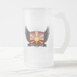MACEDONIA FROSTED GLASS BEER MUG