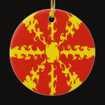 Macedonia Gnarly Flag Ceramic Ornament