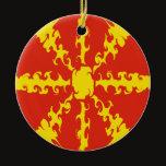 Macedonia Gnarly Flag Ceramic Ornament