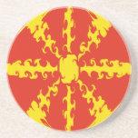 Macedonia Gnarly Flag Sandstone Coaster