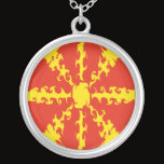 Macedonia Gnarly Flag Silver Plated Necklace