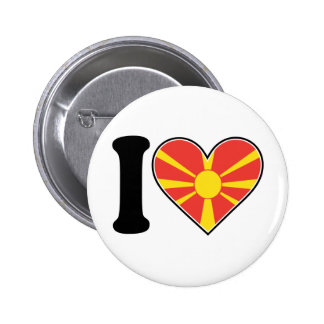 Macedonia Heart Flag 2 Inch Round Button