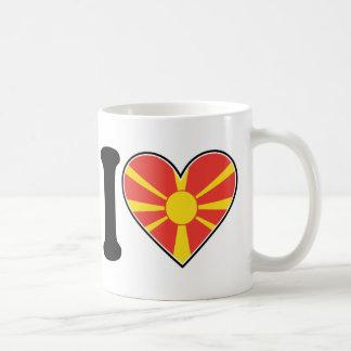 Macedonia Heart Flag Coffee Mug