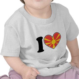 Macedonia Heart Flag T-shirts
