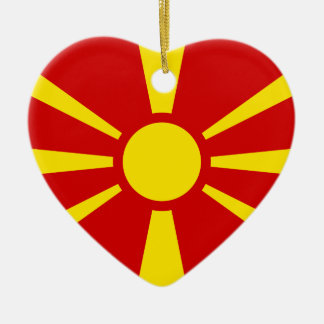 Macedonia Luxembourg flag Ornament