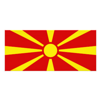 Macedonia – Macedonian Flag Customized Rack Card