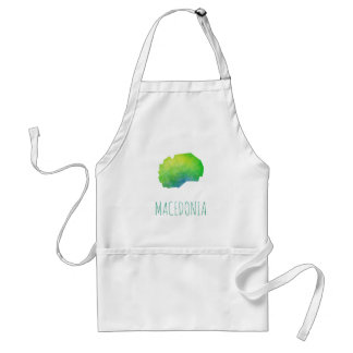 Macedonia Map Adult Apron