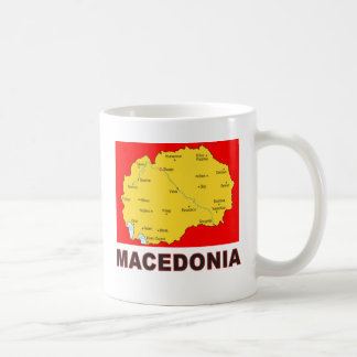 Macedonia Map Coffee Mug