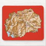 Macedonia Map Mousepad