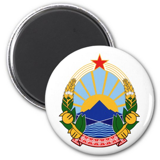 Macedonia Official Coat Of Arms Heraldry Symbol Magnet