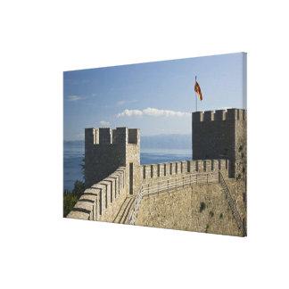 MACEDONIA, Ohrid. Car Samoil's Castle - Castle 2 Canvas Print