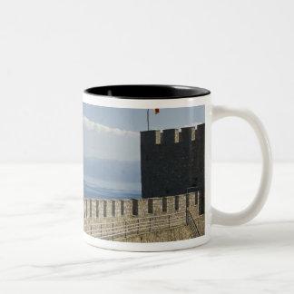 MACEDONIA, Ohrid. Car Samoil's Castle - Castle 2 Two-Tone Coffee Mug