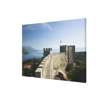 MACEDONIA, Ohrid. Car Samoil's Castle - Castle Gallery Wrapped Canvas