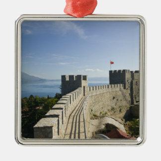 MACEDONIA, Ohrid. Car Samoil's Castle - Castle Metal Ornament