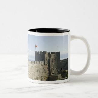 MACEDONIA, Ohrid. Car Samoil's Castle - Castle Two-Tone Coffee Mug