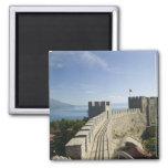 MACEDONIA, Ohrid. El castillo de Samoil del coche  Imán Cuadrado