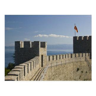 MACEDONIA, Ohrid. El castillo de Samoil del coche Tarjeta Postal