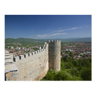 MACEDONIA, Ohrid. El castillo de Samoil del coche/ Tarjeta Postal
