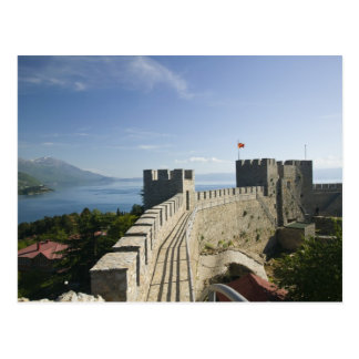 MACEDONIA, Ohrid. El castillo de Samoil del coche Tarjetas Postales