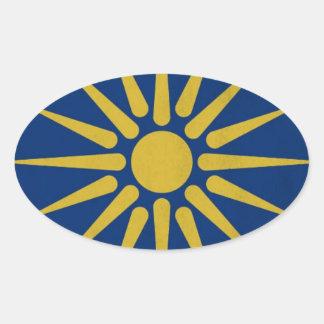 Macedonia Pegatina Ovalada