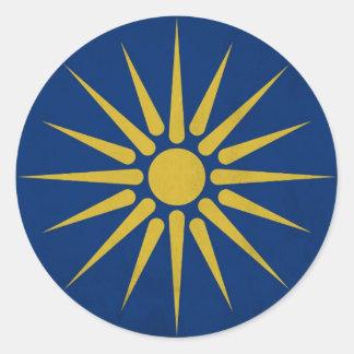 Macedonia Pegatina Redonda